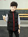 Детская жилетка на мальчика подростка 4-13 лет черная, фото 2