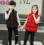 Детская жилетка на мальчика подростка 4-13 лет черная, фото 4