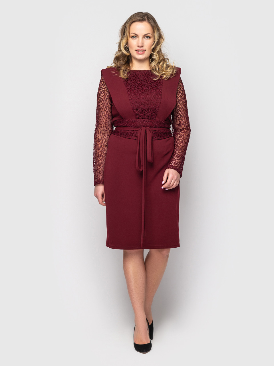 Женское платье Беатрис бордо