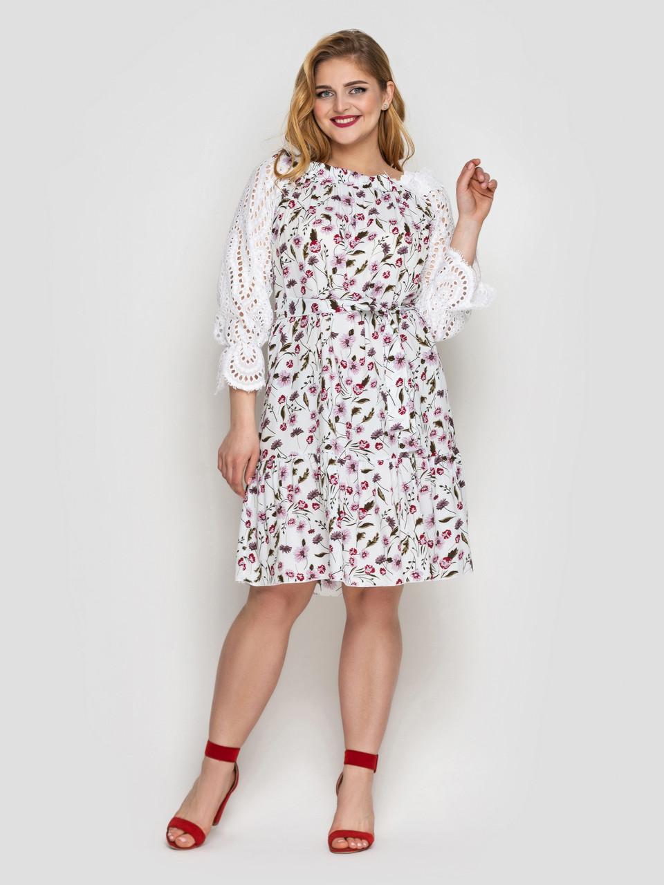 Літнє плаття Матильда біле