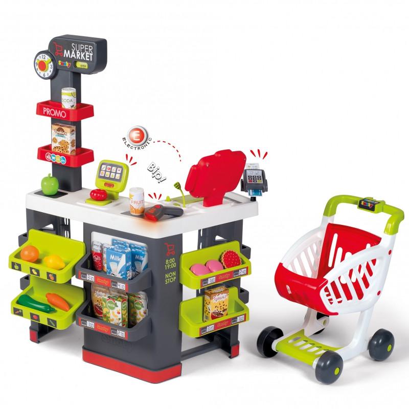 Супермаркет ігрової з візком і продуктами Smoby 350228