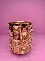 Стакан-подставка со стразами Луи Витон  (золото)