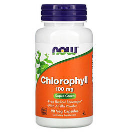 Chlorophyll 100 мг Now Foods 90 капсул