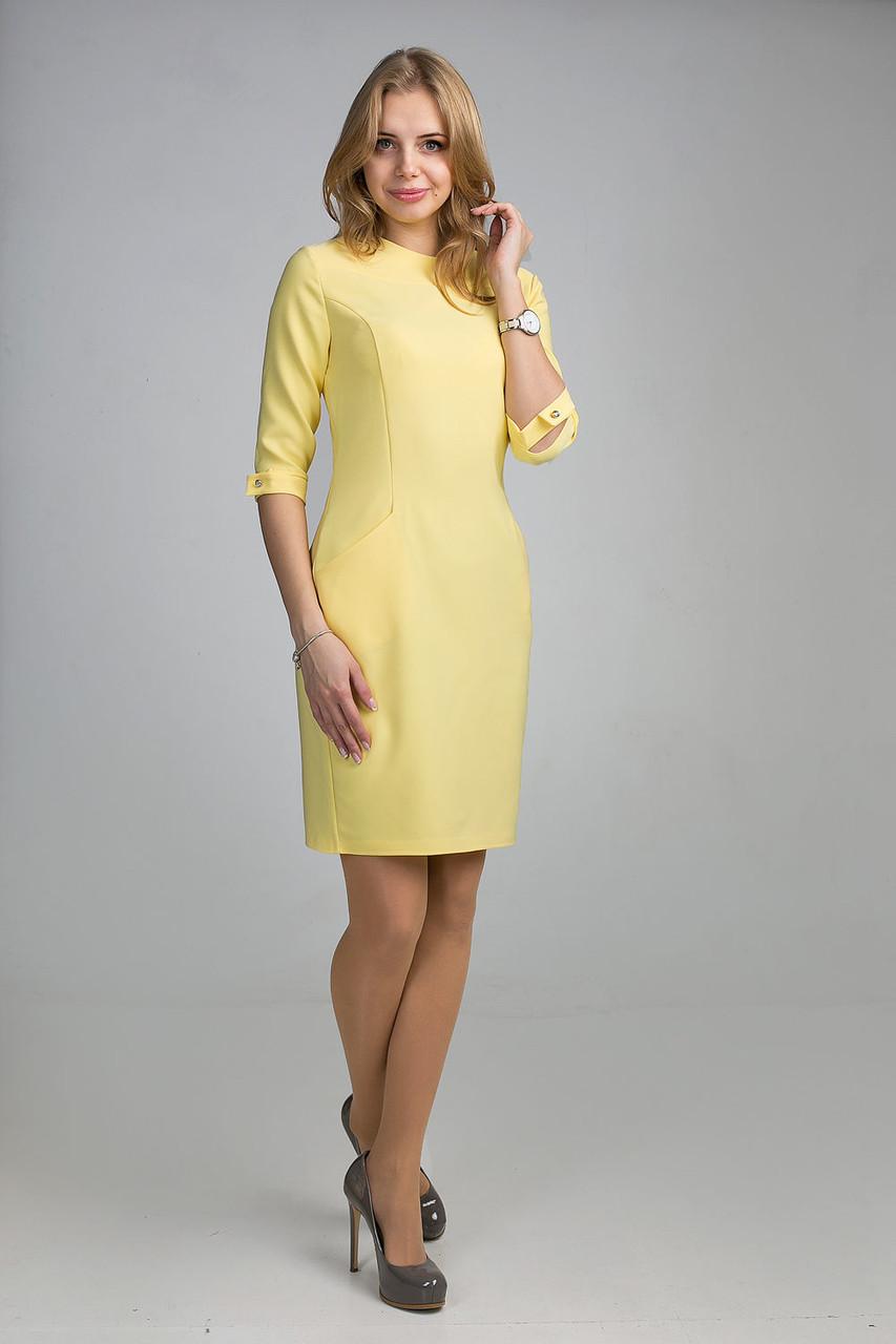 Платье в лимонном цвете фото