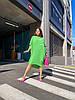 Стильна літня сукня з жатого льону мішкуватого фасону оверсайз, батал великі розміри, фото 6
