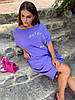 Стильна літня сукня з жатого льону мішкуватого фасону оверсайз, батал великі розміри, фото 8