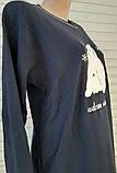 Жіноча трикотажна піжама великого розміру з довгим рукавом Ведмедики розмір 3XL, фото 9