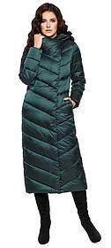 Куртка изумрудная женская комфортная модель 31016 (ОСТАЛСЯ ТОЛЬКО 50(L))