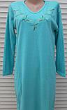 Тепла кашемірова нічна сорочка Красива ночнушка Бірюза розмір M, фото 2