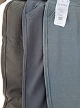 Штани жіночі теплі Ластівка великого розміру Штани з хутром всередині сірі 6XL, фото 9