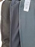 Брюки женские теплые Ласточка большого размера Красивые брюки с мехом внутри черные 5XL, фото 10