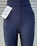 Штани жіночі теплі Ластівка великого розміру Штани з хутром всередині сині 7XL, фото 5