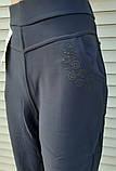 Штани жіночі теплі Ластівка великого розміру Штани з хутром всередині сині 7XL, фото 9