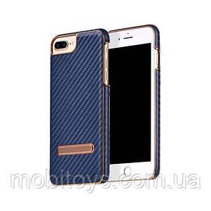 Чохол-накладка Hoco Platinum series carbon fiber для iPhone 7/8 Deep Blue