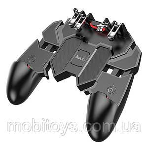 Игровой геймпад джойстик Hoco GM7 с 4 триггерами Black