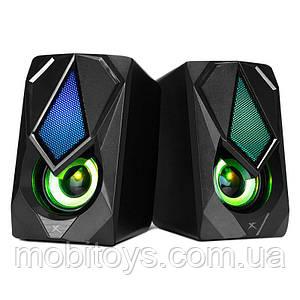 Колонки для комп'ютера XTRIKE SK-402 Wired Speaker з RGB підсвіткою