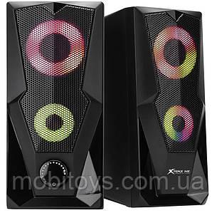 Колонки для комп'ютера XTRIKE SK-501 BK Wired Speaker з RGB підсвіткою