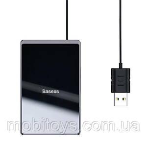 Беспроводное зарядное устройство Baseus Card Ultra-thin 15W с влагозащитой IP67 Black