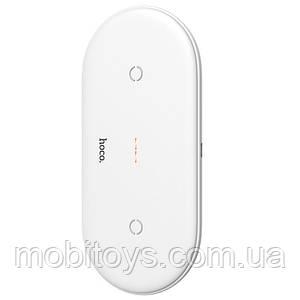 Беспроводная зарядка Hoco CW23 2-in-1 White