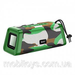 Портативная Bluetooth колонка Hoco BS35 Classic sound sports Camouflage Green