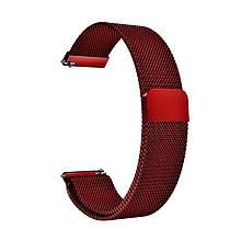 Ремінець для годинника Melanese design bracelet Універсальний, 22 мм Marsala