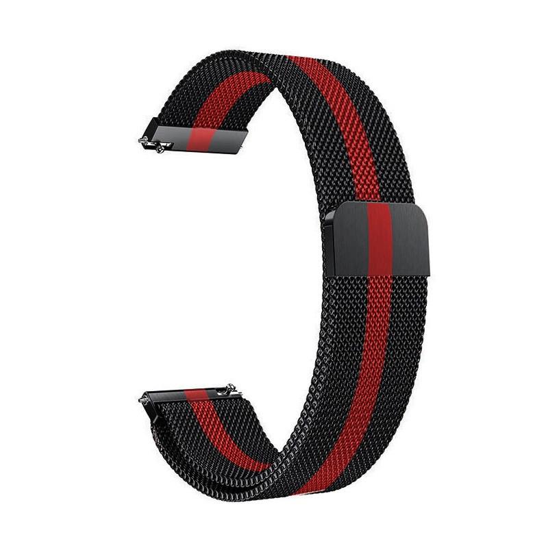 Ремешок для часов Melanese design bracelet Universal, 22 мм Black-red