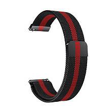 Ремінець для годинника Melanese design bracelet Універсальний, 22 мм Black-red