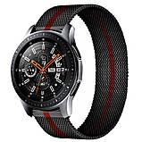 Ремешок для часов Melanese design bracelet Universal, 22 мм Black-red, фото 2