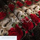 Троянди і кава - Бязь 3D - Сімейний комплект, фото 2