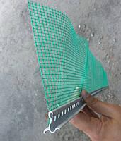Профиль завершающий с армирующей сеткой на цокольный профиль длина 2,0 м.п