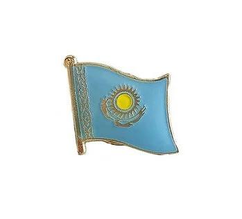 Значок нагрудный металлический Флаг Казахстана