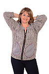 Жакет жіночій  на блискавці  з бавовни ,женский жакет на молнии из жатого хлопка большого размера, фото 7