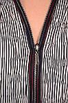 Блуза женская на молнии из жатого хлопка большого размера, фото 4