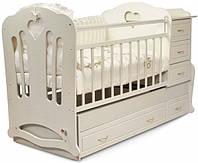 """Детская кроватка-трансформер с комодом, ящиками и маятником 3 в 1 """"Вивальди"""" Angel baby"""