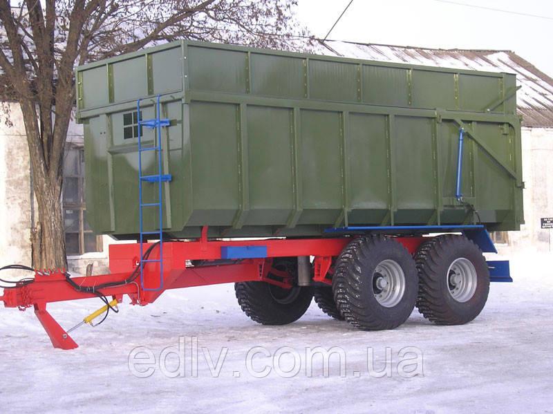 Тракторный самосвальный прицеп односторонний ТСП -20