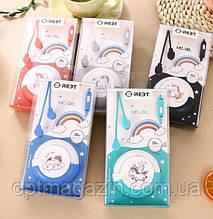 Навушники вкладиші, з мікрофоном асорті 6 видів | Мультяшні Keeka Fruit MC-130
