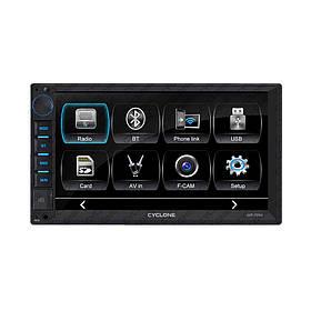 Автомагнитола CYCLONE MP-7064 (Bluetooth, USB, SD, дисплей 7*, 2DIN, +пульт, mp5)
