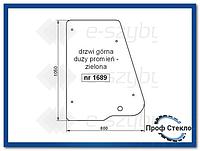 Стекло экскаватор-погрузчик JCB 3CX 4CX kabina P12 (od roku 1999) -Дверь верхняя большой радиус 126/02395