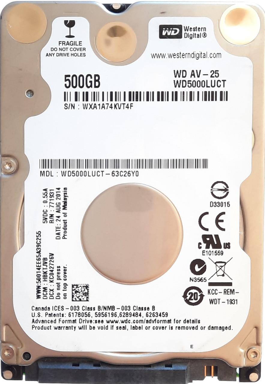HDD 2.5 500GB WesternDigital wd5000luct 5400/16mb s/n vt4f