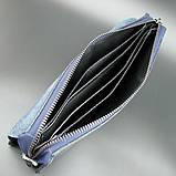 Повсякденний шкіряний чоловічий клатч синій модна міні сумочка з натуральної шкіри чоловічий клатч для документів, фото 2