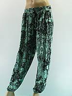 """Женские брюки """"Майя"""" зеленые, 50-60 размер"""