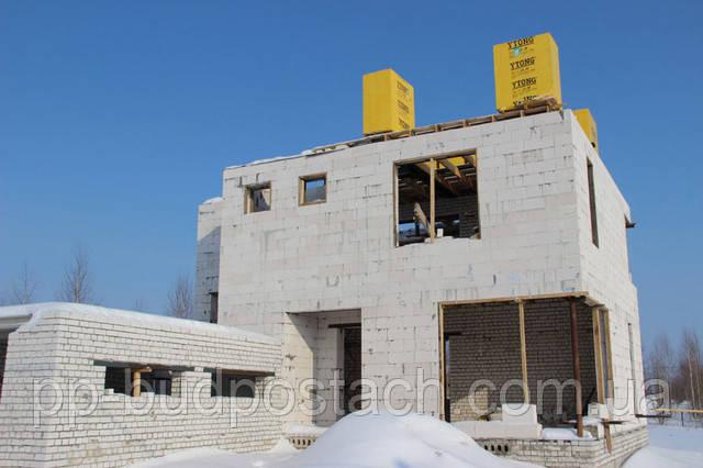 Зимове будівництво котеджу з газобетону Аерок