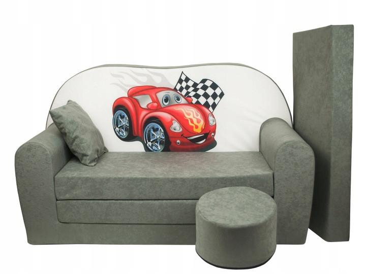 Детский диван, детский раскладной диван + пуф +дополнительный матрас + подушка, Машинка