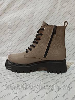 Ботинок зимний натуральная кожа и натуральный мех (шерсть, фото 2