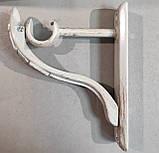 Карниз для штор металдический АВЕЯ однорядный 25мм РЕТРО 2.0м Белое золото, фото 4