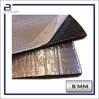 Шумоизоляция 6 мм, каучук Софт Фольгированный, лист 50*50 см
