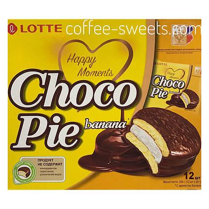 Choco Pie LOTTE зі смаком банана ПЕЧИВО 336 г (12 х 30)., фото 2