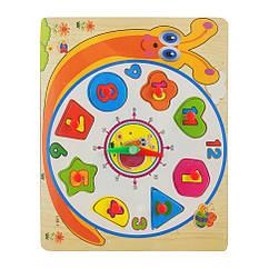Деревянная игрушка Часы Bambi MD 2036 (Улитка)