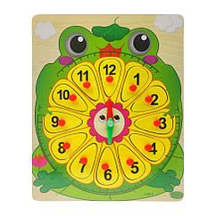Деревянная игрушка Часы Bambi MD 2036 (Жабка)