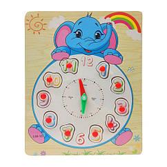 Деревянная игрушка Часы Bambi MD 2036 (Слон)